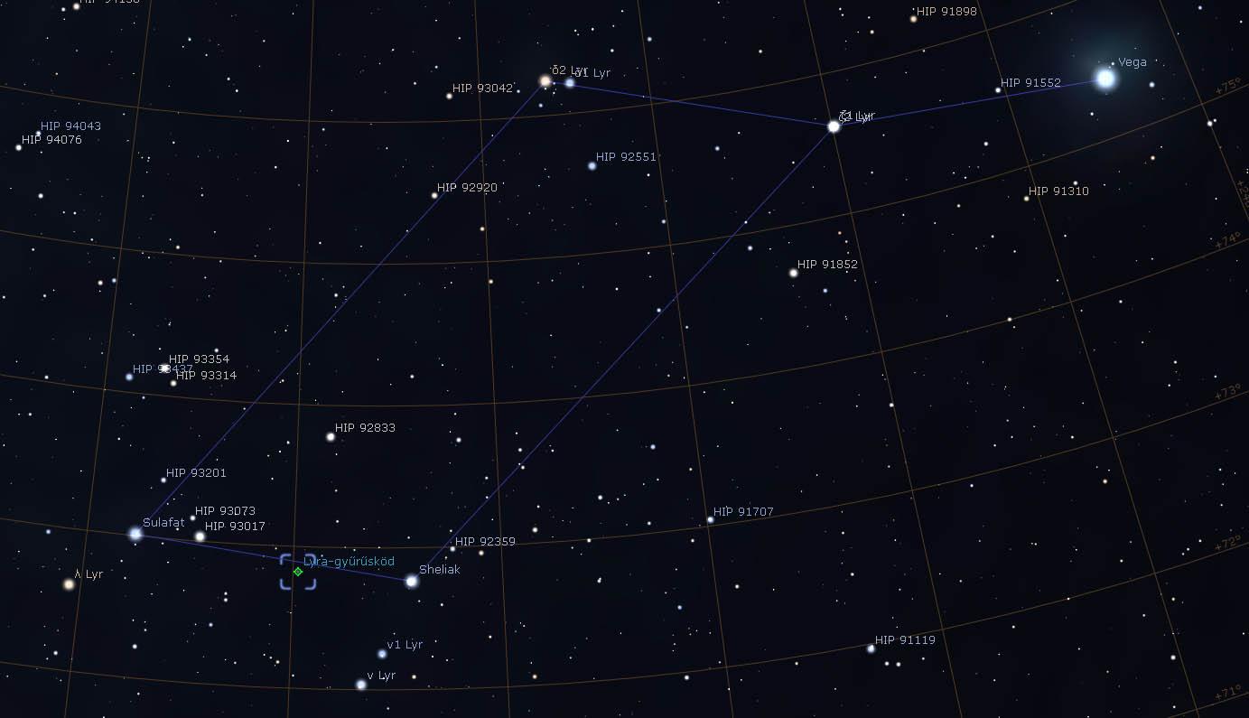 M57 Gyűrűs-köd térkép